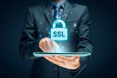 Conceito do SSL imagens de stock