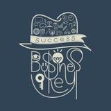 Conceito do sucesso da chave do negócio do ícone Fotografia de Stock Royalty Free