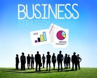 Conceito do sucesso da missão da gestão de estratégia empresarial fotos de stock royalty free