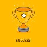 Conceito do sucesso do vetor no estilo liso ilustração royalty free
