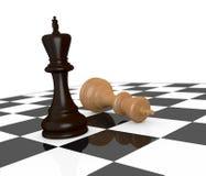 Conceito do sucesso e da derrota ilustração stock