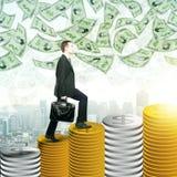Conceito do sucesso e da finança Foto de Stock Royalty Free