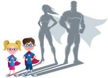 Conceito do super-herói das crianças ilustração royalty free