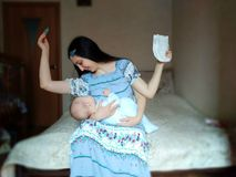 Conceito do supermother ideal Para o Mother' dia de s fotos de stock