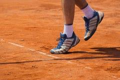 Conceito do tênis - saque Foto de Stock Royalty Free