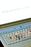Conceito do teclado da chantagem fotos de stock royalty free