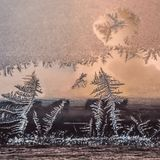 Conceito do tema do mundo de fantasia da estação do inverno: Imagem macro de Colorf fotografia de stock royalty free