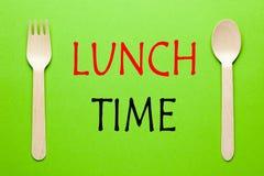 Conceito do tempo do almoço imagem de stock