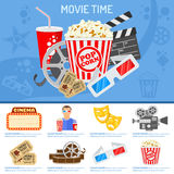 Conceito do tempo do cinema e de filme Fotos de Stock Royalty Free