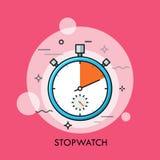 Conceito do tempo que segue e sincronismo da medição, da contagem regressiva, o exato ou o preciso ilustração do vetor