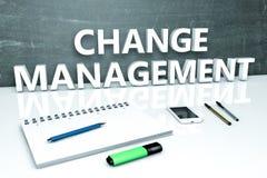 Conceito do texto da gestão de mudanças Imagens de Stock Royalty Free