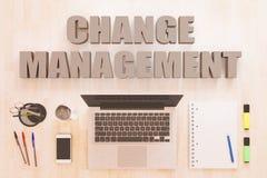 Conceito do texto da gestão de mudanças Foto de Stock