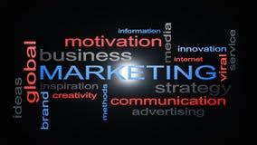 Conceito do texto da nuvem da palavra da estratégia empresarial do mercado Imagem de Stock Royalty Free