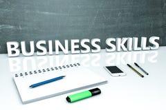 Conceito do texto das habilidades do negócio Imagens de Stock