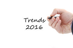 Conceito do texto das tendências 2016 Foto de Stock