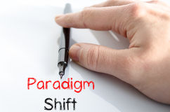 Conceito do texto do deslocamento do paradigma Imagens de Stock Royalty Free