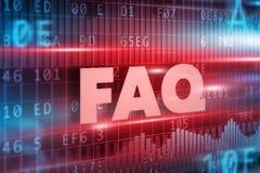 Conceito do texto do FAQ Imagens de Stock Royalty Free