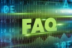 Conceito do texto do FAQ Fotografia de Stock