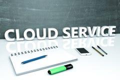 Conceito do texto do serviço da nuvem Foto de Stock Royalty Free