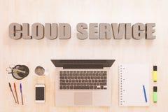Conceito do texto do serviço da nuvem Fotos de Stock