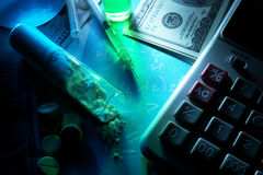 Conceito do tráfico de droga Imagem de Stock
