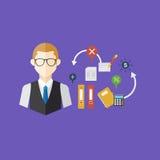 Conceito do trabalhador de escritório, ilustração do vetor Imagem de Stock Royalty Free