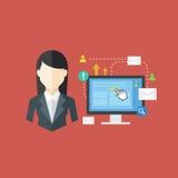 Conceito do trabalhador de escritório, ilustração do vetor Fotos de Stock