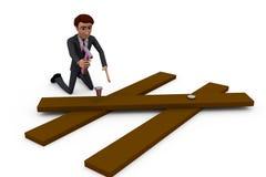 conceito do trabalhador do homem 3d Imagens de Stock