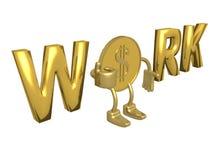 Conceito do trabalho. ilustração royalty free