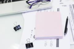Conceito do trabalho de escritório para negócios Foto de Stock