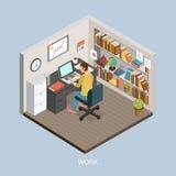 Conceito do trabalho em casa Imagem de Stock