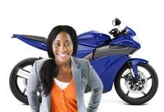 Conceito do transporte da barata da bicicleta da motocicleta do velomotor foto de stock royalty free