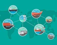 Conceito do transporte internacional e da logística Imagens de Stock