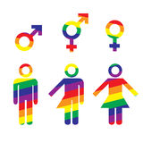 Conceito do transsexual do Transgender ilustração stock