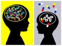 Conceito do tratamento de ADHD Fotos de Stock