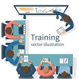Conceito do treinamento do negócio ilustração do vetor