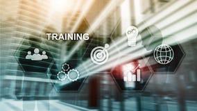 Conceito do treinamento do neg?cio E Conceito financeiro da tecnologia e da comunica??o ilustração stock