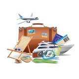 Conceito do turismo e do curso Imagem de Stock