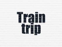 Conceito do turismo: Viagem do trem no fundo da parede Imagem de Stock