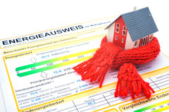 Conceito do uso eficaz da energia da casa Imagens de Stock