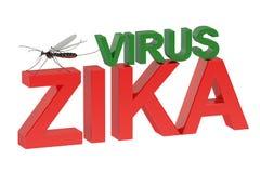 Conceito do vírus de Zika Fotos de Stock Royalty Free
