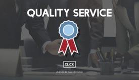 Conceito do valor da garantia do serviço de qualidade o melhor imagem de stock royalty free