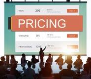 Conceito do valor da promoção do preço da fixação do preço de mercado fotos de stock royalty free