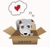 Conceito do vetor da adoção do animal de estimação ilustração royalty free