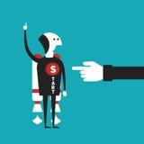 Conceito do vetor da partida de negócio no estilo liso dos desenhos animados Imagens de Stock