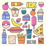 Conceito do vetor do almoço e do fast food Imagem de Stock Royalty Free