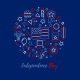 Conceito do vetor do Dia da Independência Imagem de Stock