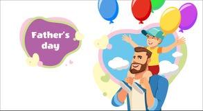 Conceito do vetor dos desenhos animados do partido de surpresa do dia de pais ilustração stock