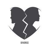 Conceito do visual do divórcio ilustração do vetor