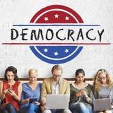 Conceito do voto da democracia do referendo do governo da política Foto de Stock